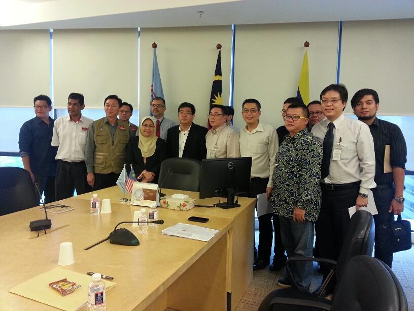 Director General Puan Shamsiah with members of AIPO and Public Complaints Bureau - Parti Gerakan Rakyat Malaysia